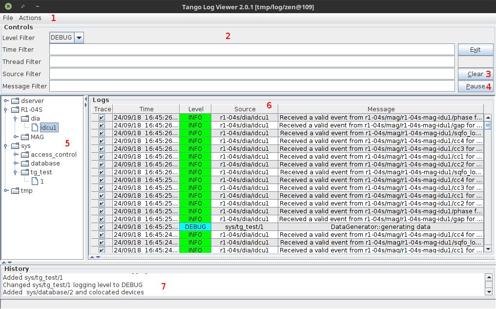 LogViewer — Tango Controls 9 2 5 documentation