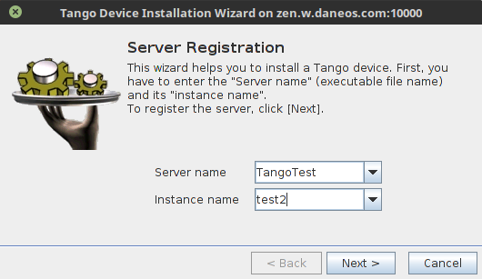 How to start a device server — Tango Controls 9 3 3